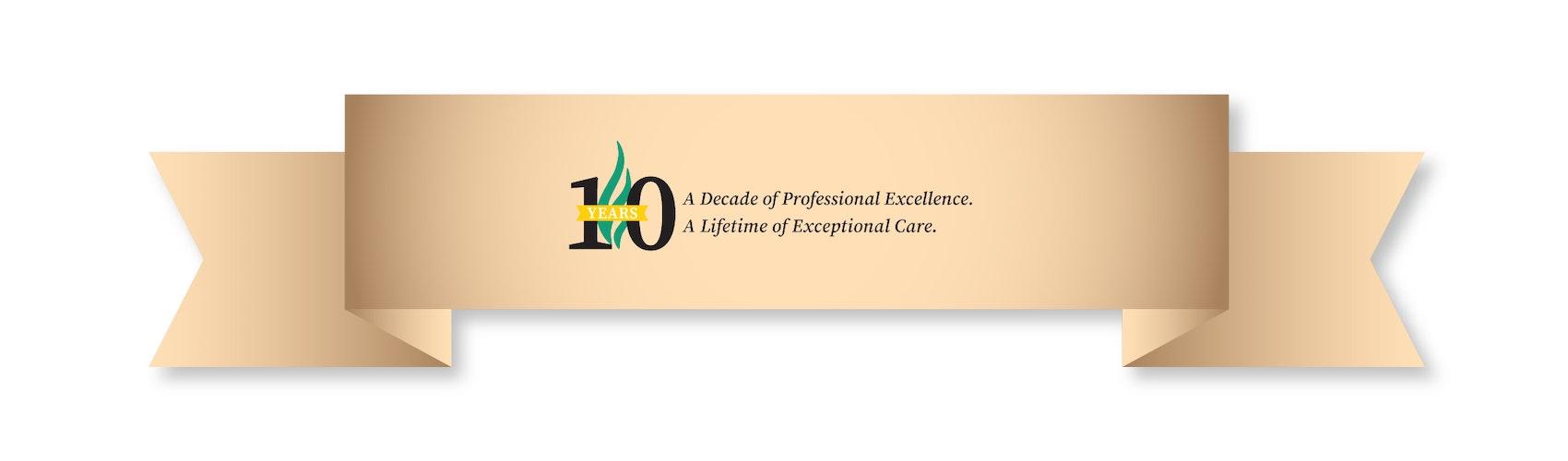 10 year banner for COPHS alumni